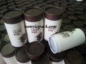 Lon cacao giấy mỹ thuật