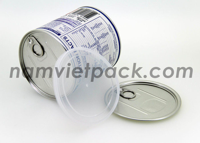 Paper tube with easy-open tin cap
